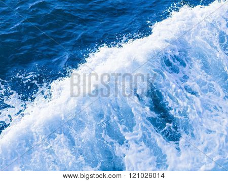 Blue Water And White Foam Boils