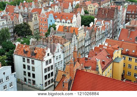 Gdansk top view, Poland