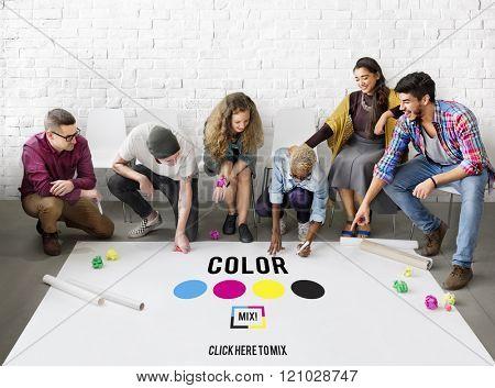 Color Design Model Art Paint Pigment Motion Concept
