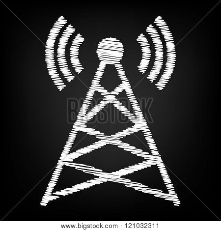 Antenna sign. Scribble effect