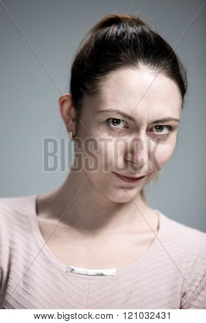 portrait of disgusted woman
