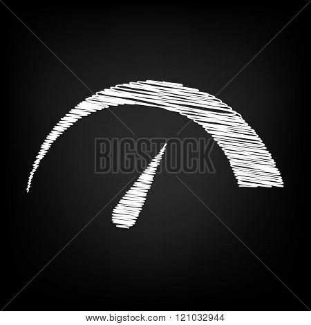 Speedometer sign. Scribble effect