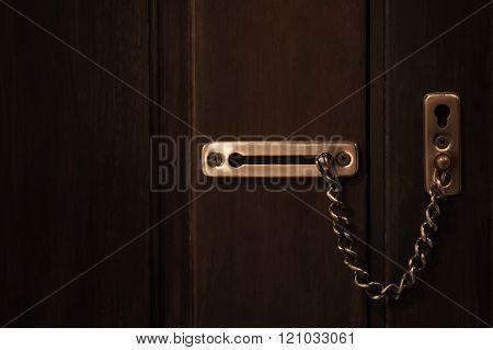 Security Chain Lock Wood Door