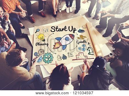 Start up Launch Ideas Motivation Mission Concept
