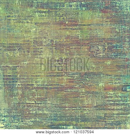 Vintage textured background. With different color patterns: yellow (beige); brown; green; purple (violet); gray