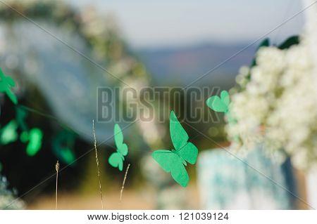 Garland Of Paper Butterflies