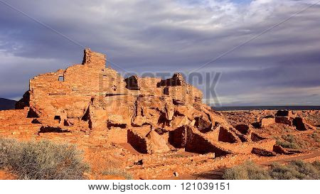 Wupatki Pueblo Ruins In Arizona