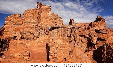 Native American Ruins At Wupatki National Monument