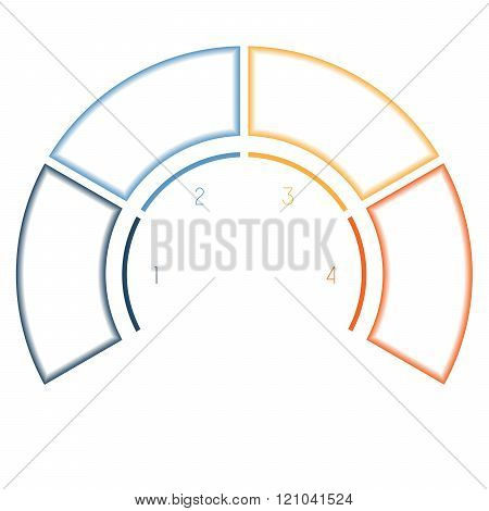 Infographics Colorful Semicircle For Four Number Options