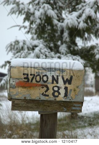 Snow On Mailbox