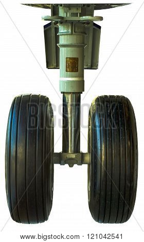 Isolated Airplane Landing Gear Wheels