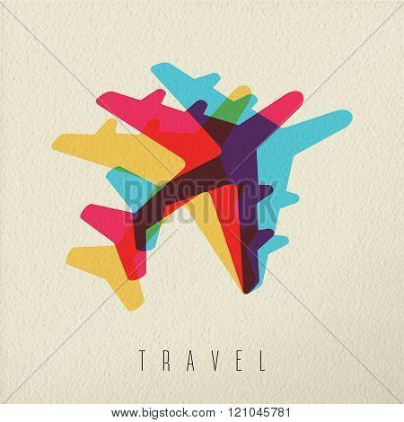 Colorful Airplane Travel Concept Background