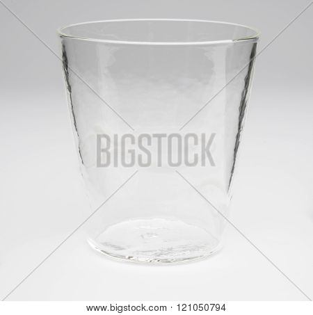 Crystal Drinking Glass With Outlined White Fish Design