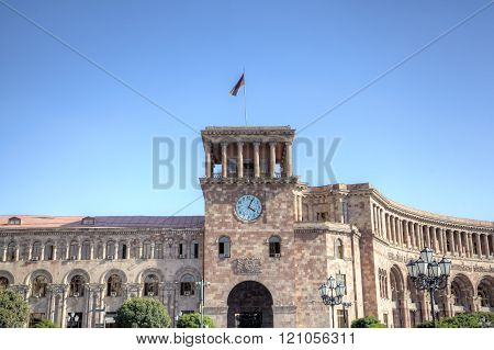 The government house on the Square of the Republic. Yerevan, Armenia