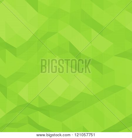 Green abstract triangular background