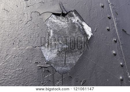Rusted dark metal plate background