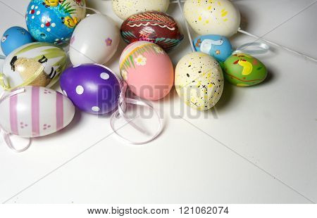 Mix Of Multicolored Vivid Easter Eggs