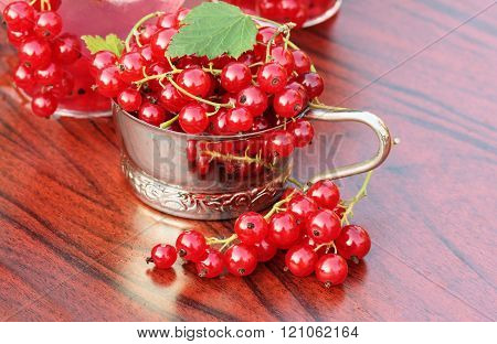 red currant on table