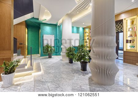 design and decoration in modern entrance hall