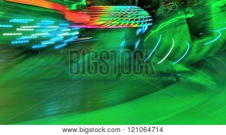 Moving fairground ride