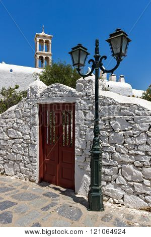 Panagia Tourliani monastery inTown of Ano Mera, island of Mykonos, Greece