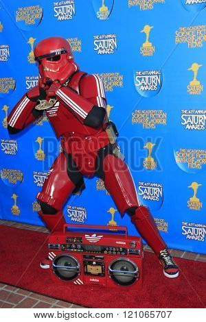 BURBANK - JUN 25: Billy Stryder, Cosplayer, Hip Hop Trooper at the 41st Annual Saturn Awards at The Castaway on June 25, 2015 in Burbank, California,