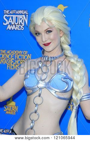 BURBANK - JUN 25: Cosplayer Ashlynne Dae at the 41st Annual Saturn Awards at The Castaway on June 25, 2015 in Burbank, California,