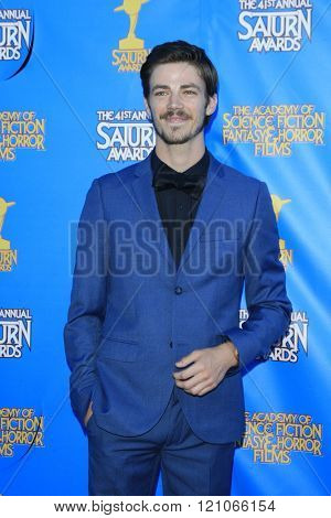 BURBANK - JUN 25: Grant Gustin at the 41st Annual Saturn Awards at The Castaway on June 25, 2015 in Burbank, California,