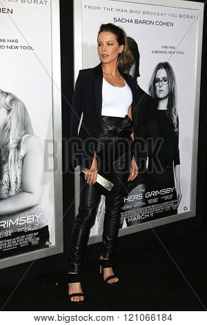 LOS ANGELES - MAR 3: Kate Beckinsale at the Premiere of 'The Brothers Grimsby' at the Regency Village Theater on March 3, 2016 in Los Angeles, California