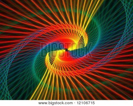 fractal spiral rainbow