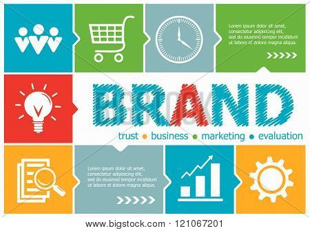 Branding Design Illustration Concepts For Business, Consulting, Management, Career.