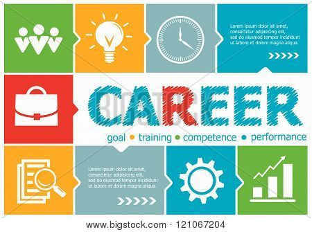 Career Design Illustration Concepts For Business, Consulting, Management, Career.