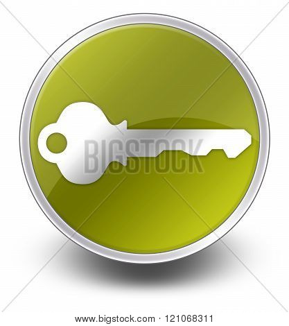 Image Picture Icon Button Pictogram with Key symbol