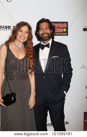 LOS ANGELES - FEB 28:  Khrystyne Haje, Roland Rojas at the Style Hollywood Viewing Party 2016 at the Hollywood Museum on February 28, 2016 in Los Angeles, CA