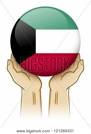 Pray For Kuwait Illustration