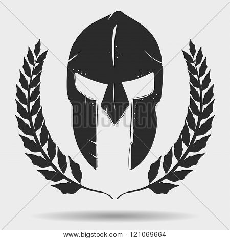 Gladiator helmet with laurel wreath
