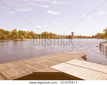 Serpentine Lake, London Vintage