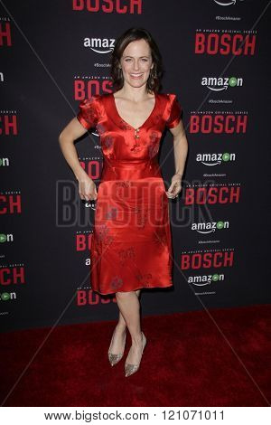 LOS ANGELES - MAR 3:  Sarah Clarke at the Bosch Season 2 Premiere Screening at the Silver Screen Theater at the Pacific Design Center on March 3, 2016 in West Hollywood, CA