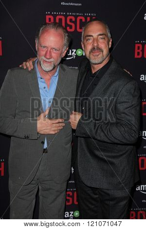 LOS ANGELES - MAR 3:  Xander Berkeley, Titus Welliver at the Bosch Season 2 Premiere Screening at the Silver Screen Theater at the Pacific Design Center on March 3, 2016 in West Hollywood, CA