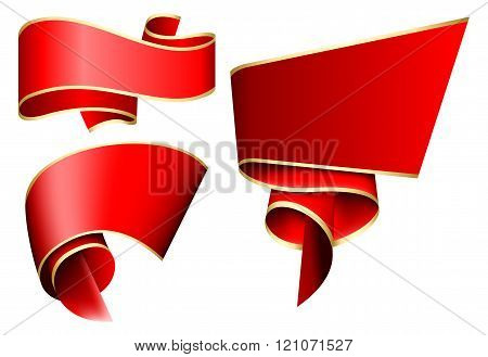 Red ribbon set