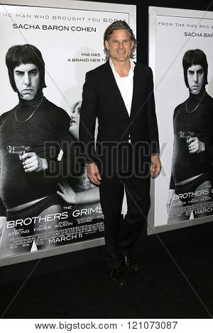 LOS ANGELES - MAR 3: Noah Huntley at the Premiere of 'The Brothers Grimsby' at the Regency Village Theater on March 3, 2016 in Los Angeles, California