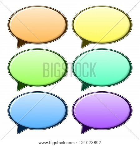Speech bubble in different color
