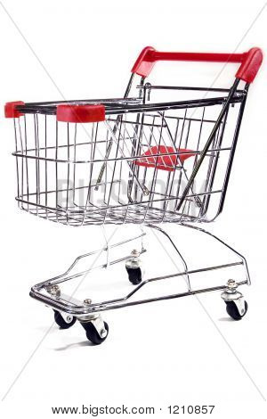 Shopping Trolley On White Background 2