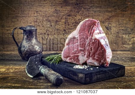 Raw Porterhouse Steak