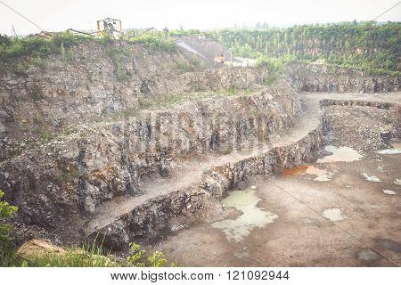 granite mining panorama