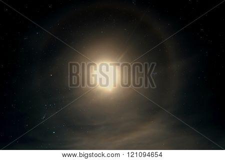 Star Sky Moon Halo