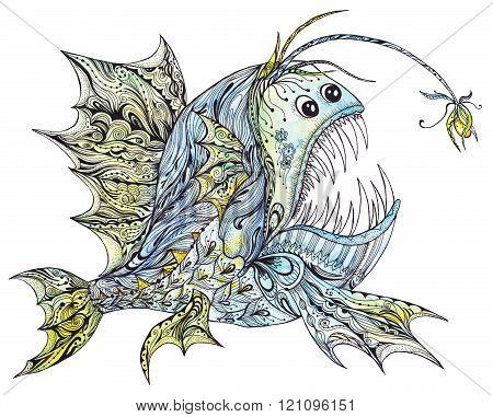Creative Anglerfish Illustration