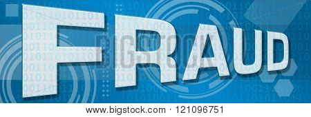 Fraud Blue Technology Background Horizontal