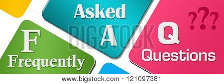 FAQ Colorful Rounded Squares Horizontal
