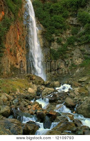 One section of Twin Falls, Smithers BC Canada